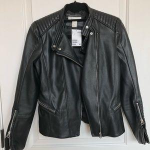 Jackets & Blazers - H&M Faux Leather Jacket